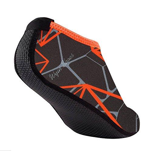 mingfa. Wasser Socken Barefoot Haut Schuhe, Beach Surf Tauchen Home Slipper Pool Schwimmen Yoga Socken für Männer Frauen, grau