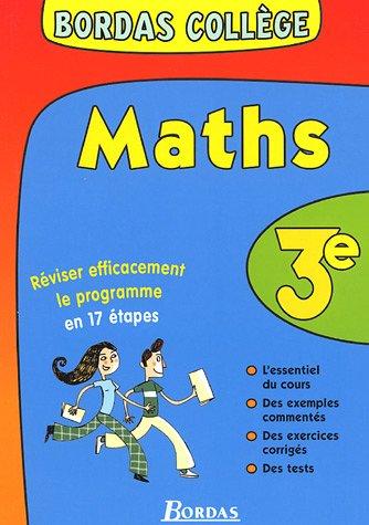 BORDAS COLLEGE MATHS 3E NP (Ancienne Edition) par Lionel Weinsanto
