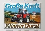 ComCard Steyr 80 große kraft, kleine durst schlepper traktor trekker schild aus blech, metal sign, tin