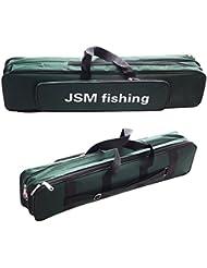 jshanmei® Portable ligera Telescopio caña de pescar y de alta velocidad carrete Combos Kit de pescar para viaje–Set de red de aterrizaje de caña y carrete para pesca ajustable, Fishing Bag