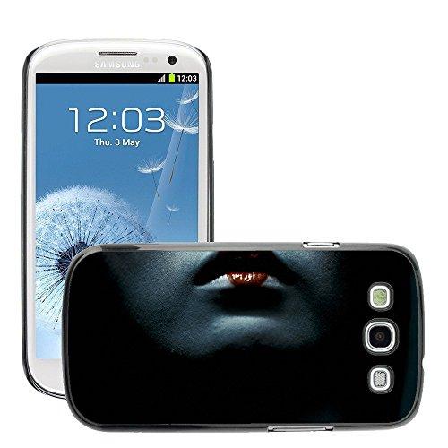 Premium Slim Polycarbonate Aluminium Cassa del telefono Custodia Case Bandiera Cover Armor // M00047999 lips geisha aero black // Samsung Galaxy S3 i9300 - Aero Lip