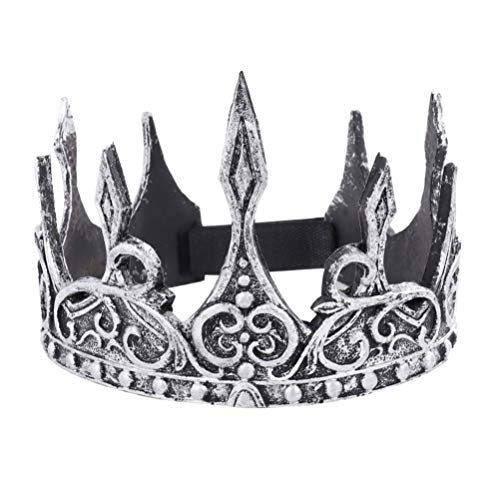 Amosfun könig Krone antike Monarch Krone Schaum königliche Krone Halloween Party mittelalterlichen kostüm zubehör Theater bankett (Männer's Crown Royal Kostüm)