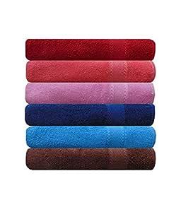 Akin Towel Royal Multicolor Cotton Hand Towel Set of 6