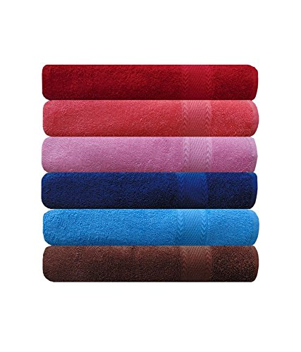 Akin Royal Multicolor Cotton Hand Towel Set Of 6
