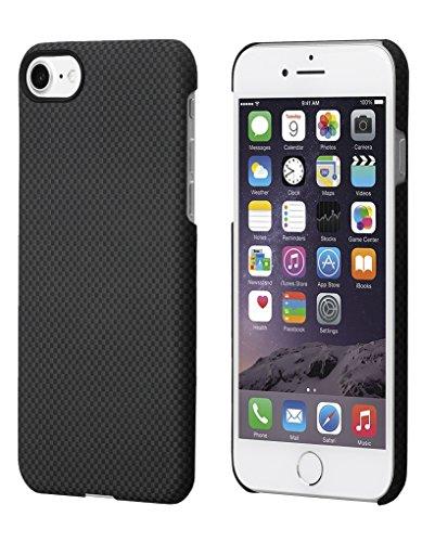 iPhone 7 Cover con Schermo protettivo, Nero / Grigio (Plaid), 4.7 pollici Custodia ultra sottile 0.65 mm da PITAKA Aramid Fibre