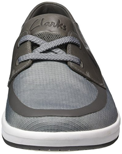 Clarks Nautic Harbour, Derby homme Gris (Light Grey)