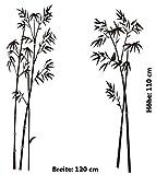 Wandtattoo Bambus Pflanze Wandaufkleber Wohnzimmer Schlafzimmer Wohnzimmer Wandsticker Schilf Badezimmer Strauch asiatisch Buddha Australien