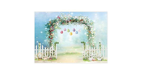 Allenjoy Frühling Ostern Blumen Hintergrund Hase Kamera