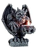 Gargoyle Figur mit Teelichthalter | Gothic Kerzenständer Kerzenhalter Drache