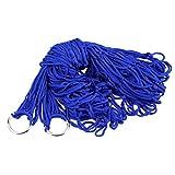 I bambini adulti dell'oscillazione all'aperto dell'interno casuale addensano la rete della maglia dell'amaca del tessuto di nylon appendono la forte corda per la spiaggia di campeggio di viaggio