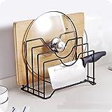 ZHDC® Regal, Kreatives Metall Eisen Mehr Gebrauch Topfdecke Ambossplatte Messerbrett Küche Regal Schneidebrett Küchenutensilien Starke Tragfähigkeit