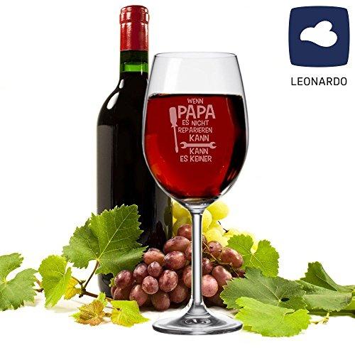 XXL Leonardo Weinglas 'Wenn Papa es nicht reparieren kann, kann es keiner!' - Rot-/Weißweinglas -...