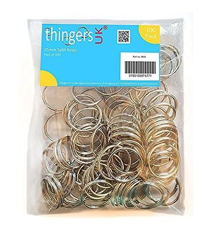 100 Split Rings - 25mm - High Quality Key