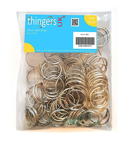 Thingers UK 100 Split Rings - 25...