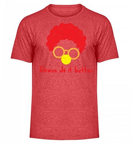 ClassicLounge Hochwertiges Herren Melange Shirt - Clown - Zirkus - Geschenk - Karneval - Kostüm - Circus - Gift: Clowns Do It Better (Star Kostüme Ideen)