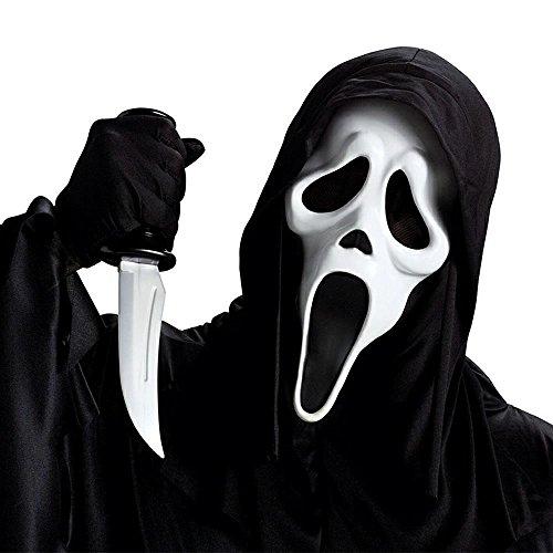 Scream Halloween Maske Geist Maske mit Haube - Scream Halloween