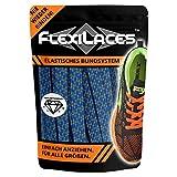 FLEXILACES - Flache elastische Schnürsenkel | Spannung einstellbar | viele Farben | nie Wieder Schuhbänder binden | pa