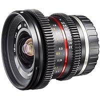 Walimex Pro 12mm 1:2,2 VCSC-Weitwinkelobjektiv für MFT Objektivbajonett schwarz (manueller Fokurs, für APS-C Sensor gerechnet, Filterdurchmesser 67mm, stufenlose Blendeneinstellung)