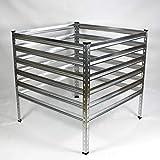 ESTEXO verzinkter Metall-Komposter | Größe: 120x120x90cm