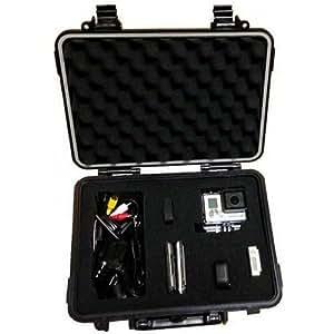 Malette QualiPro rigide pour caméra Gopro, APN et camescopes (Dim: 280x230x98mm, Sacoche de transport rigide pour Gopro)