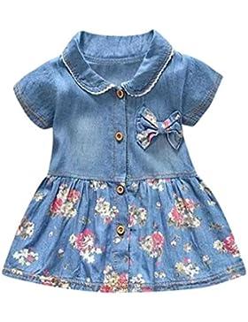 Vestido Bebé niña ❤️ Amlaiworld Vestido de fiestaVestido de princesa Bowknot Impresión floral de bebé niña Ropa...