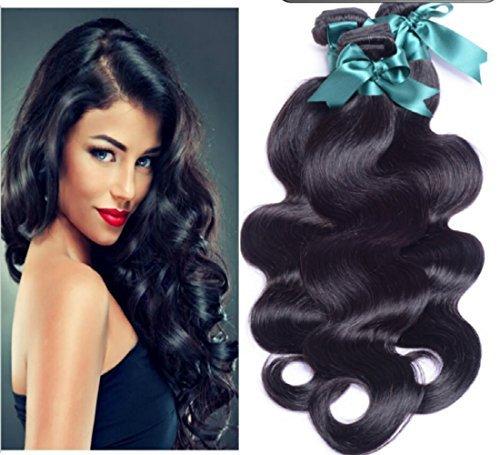 Obzer USA® 7A bresilien Brésilien vierge extensions des cheveux, Remy humain de cheveux tissage Coiffure human hair 16+18+20\\