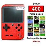 Flybiz Consola de Juegos Portátil, 3 Pulgadas Consola de Juegos portátil Pantalla HD Consola de Juegos Retro con 400 Juegos, Soporte conectar TV, Regalo de Cumpleaños para los Niños Padres (Rojo)