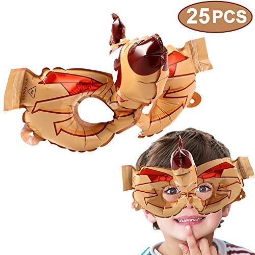 VAMEI 25 Stück Maske Kinder Party Masken Halbmaske Halloween Augenmaske Maskerade Cosplay Augenmaske Kindergeburtstag Partymasken Weihnachten (Hund)