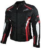Heyberry Damen Motorrad Jacke Motorradjacke Textil Schwarz Rot Gr. M