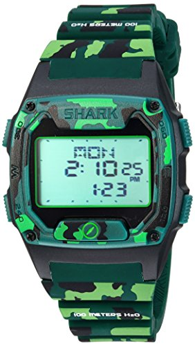 Freestyle pour homme Shark à quartz Silicone et Plastique montre de sport, couleur: vert (modèle: 10026932)