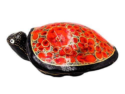 Dose Schildkröte aus Pappmaché - bunt bemalt - Fair Trade (Variante 2)