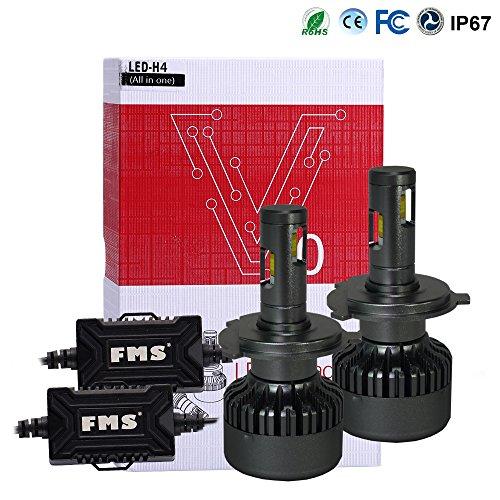 FMS H4 9003 HB2 LED Lampadine del Faro Kit 6000K Bianco H4 9003 HB2 Faro Bulbi Auto 9600LM