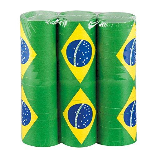 PARTY DISCOUNT ® Luftschlangen Brasilien, 4m, 3 Stück