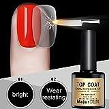 hunpta no-clean acero Top Coat Larga Duración Soak-off Gel UV LED...