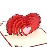 medigy 3D pop up carte de vœux pour ST VALENTIN, amoureux, couple, de mariage, datant, anniversaire (de cœur à cœur)