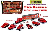 TOY-STATION Die Cast Metal Play Fire Rescue Set (Red)
