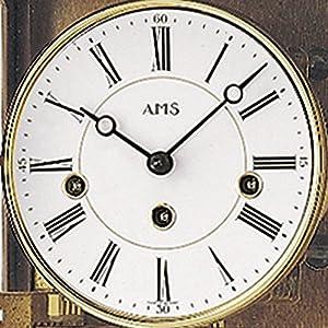 Reloj De Péndulo AMS 2606/4–Reloj de pared con péndulo massivholzgehäuse roble por AMS