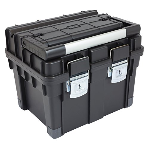 HD Compact 1 Werkzeugkoffer Box Toolbox Werkzeugkiste 450x350x350 Alugriff schwarz