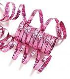 Einfarbige Glitzer Luftschlangen pink