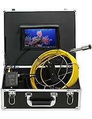 lixada poisson Finder Pêche sous-marine 20m/30m drain pipe Sewer d'inspection Caméra LCD Moniteur Caméra DVR Enregistreur 12LED étanche Vision nocturne