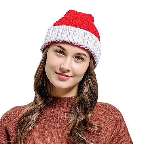 F-blue Herbst-Winter-Skifahren Knitting Schädel Baggy-Hut-Frauen-Mädchen-Geschenk Cap Christmas Santa Claus Mütze