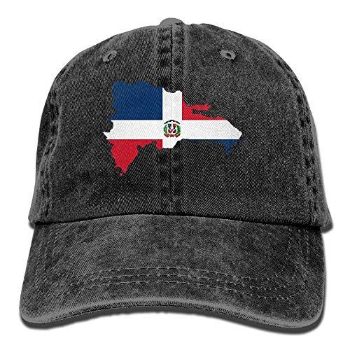 j65rwjtrhtr Men & Women Adjustable Vintage Jeans Baseball Kappen Dominican Republic Map Flag Dad Kappen