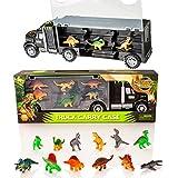Camión transportador de Dinosaurios y 12 Figuras de Juego de Dinosaurios de Juguete - Jurassic Dino