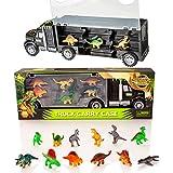 Transporteur de Dinosaures et 12 Figurines de Dinosaures Jouets - Ensemble Jurassique de Monde de Dinosaures
