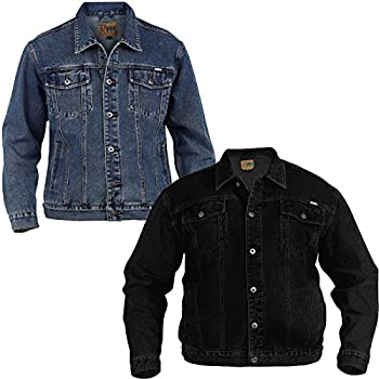 eb4fad4551 NEW MENS DENIM JEAN JACKET - Classic Duke D555 Western Style Trucker Jacket