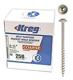 Kreg ToolSML-C250 - 250Kreg Pocket Hole Screw-2-1/2