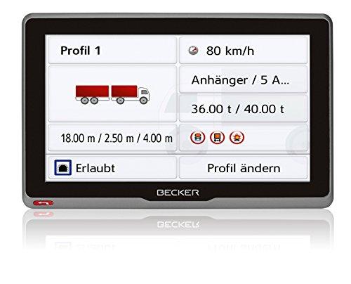 Becker transit.7sl EU Truck und Camper Navigationsgerät (17,8 cm (7 Zoll) kapazitives Echtglasdisplay, 46 Länder vorinstalliert, Lebenslange Kartenupdates, WiFi, mit MagClick Aktivhaltersystem)