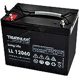 Triatlón Long Life batería 12V 60Ah Plomo AGM Batería para Sistemas de alarma, Corriente de emergencia, Eléctrico Vehículos