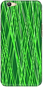 The Racoon Lean printed designer hard back mobile phone case cover for Oppo F1s. (Green Bamb)