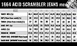 Trilobite Acid Scrambler Herren Motorrad Jeans Khaki Protektoren Hose Reißfest Abtriebfest, 38166408, Größe 44